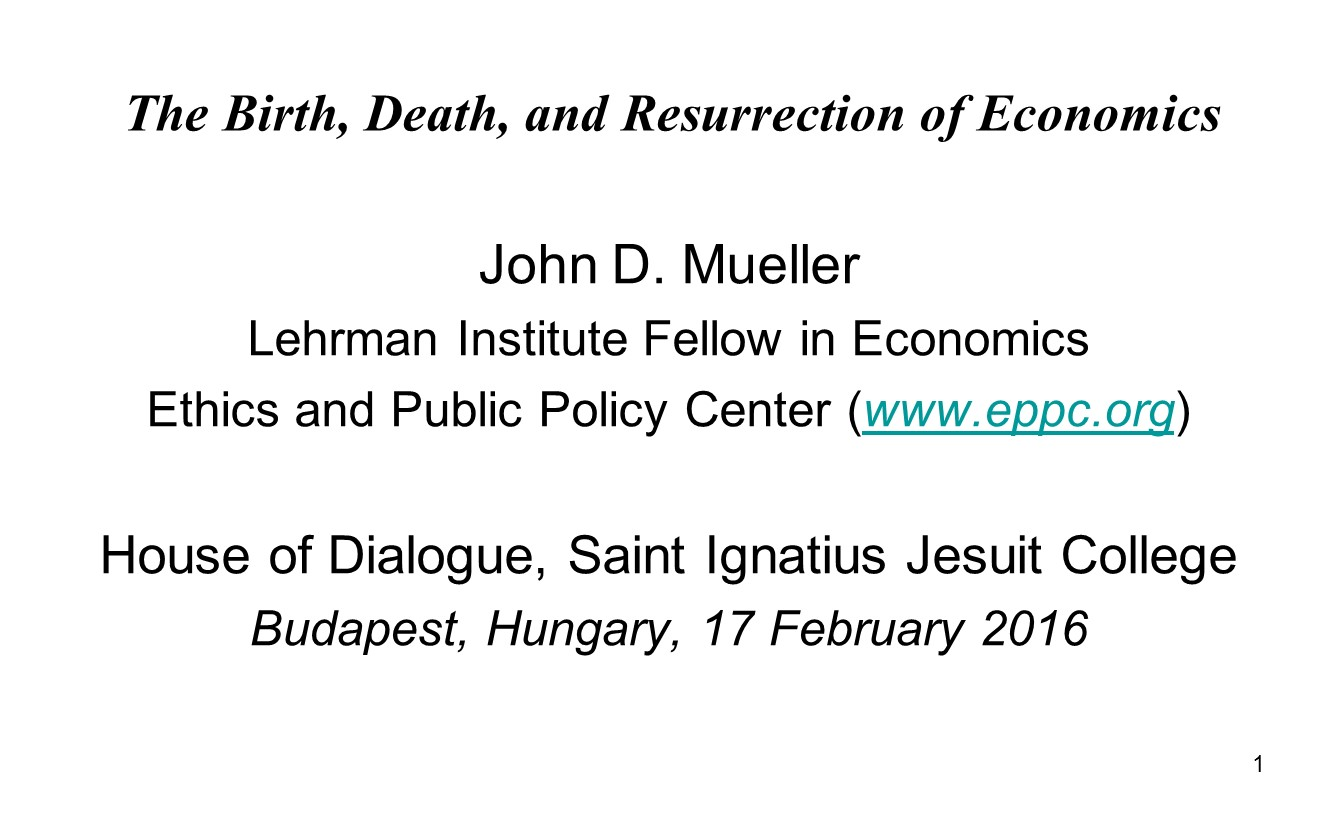 The Birth Death And Resurrection Of Economics Ethics Public